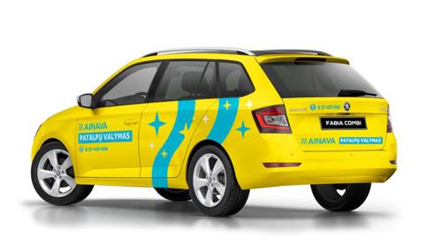 reklama ant automobilio projektavimas